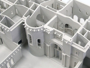3d printed building interior for architectural use