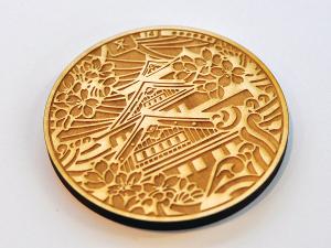 laser etched wooden pendent