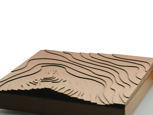 laser cut topography