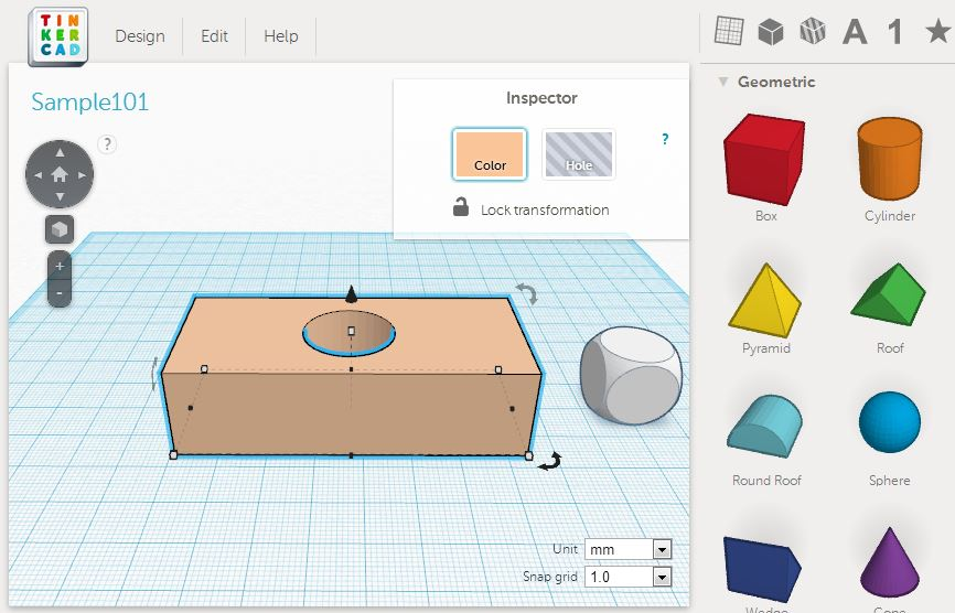Learn to 3d print make mode Web based 3d modeling