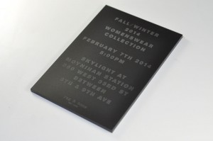 Laser Etched Acrylic Invitation